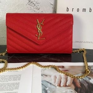YSL Red Color Mini Shoulder Bag